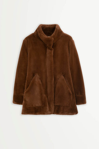 MANTEAU ELVIRA - BROWN