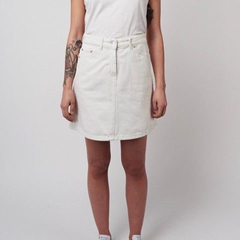 Maiken Denim Skirt - White