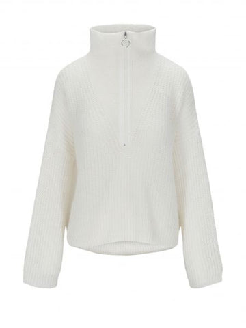 Florie Zipped Knit - Offwhite