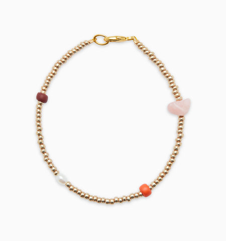 Gem Bracelet - Gold/Multi