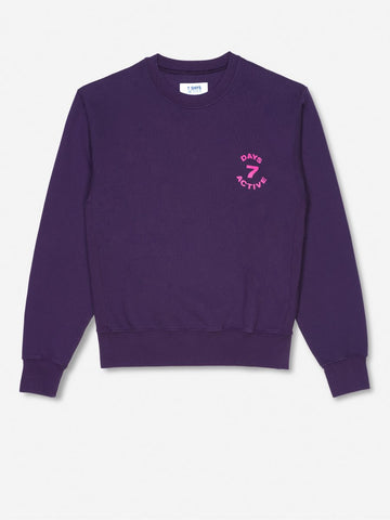 Monday crew neck - Grape Purple