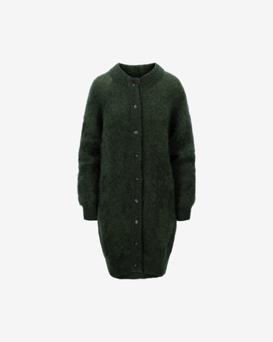 Monty Long Cardigan WRP - Forest
