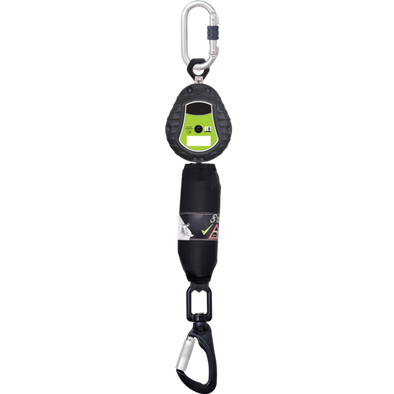 Retractable device in 2 m fabric with carabiner