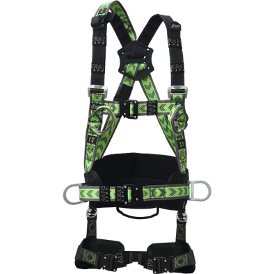 Harness with 2 attachment points and rotating belt