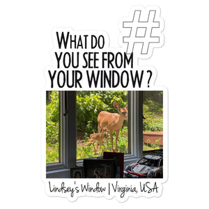 Lindsey's Window | Virginia, USA | Kiss Cut Sticker