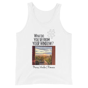 Marius' Window | Romania | Unisex Tank Top