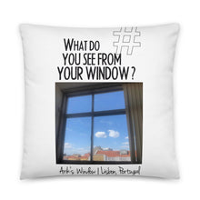 Load image into Gallery viewer, Arik's Window | Lisbon, Portugal | Pillow