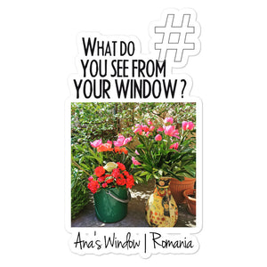 Ana's Window | Romania | Kiss Cut Sticker