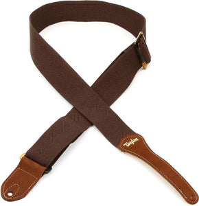 Taylor Strap, Chocolate Brown Cotton, 2""