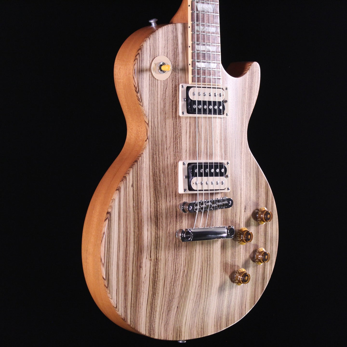 Gibson Les Paul Classic Zebrawood - Express Shipping - (G-039) Serial: 012770508 - PLEK'd