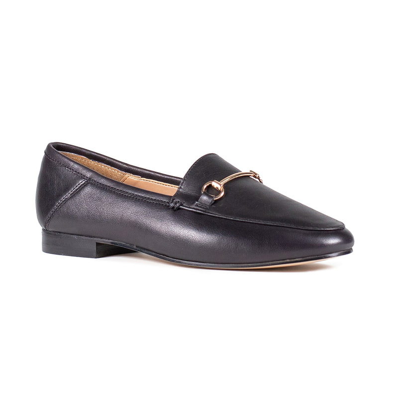 NORMA BLACK LOAFERS
