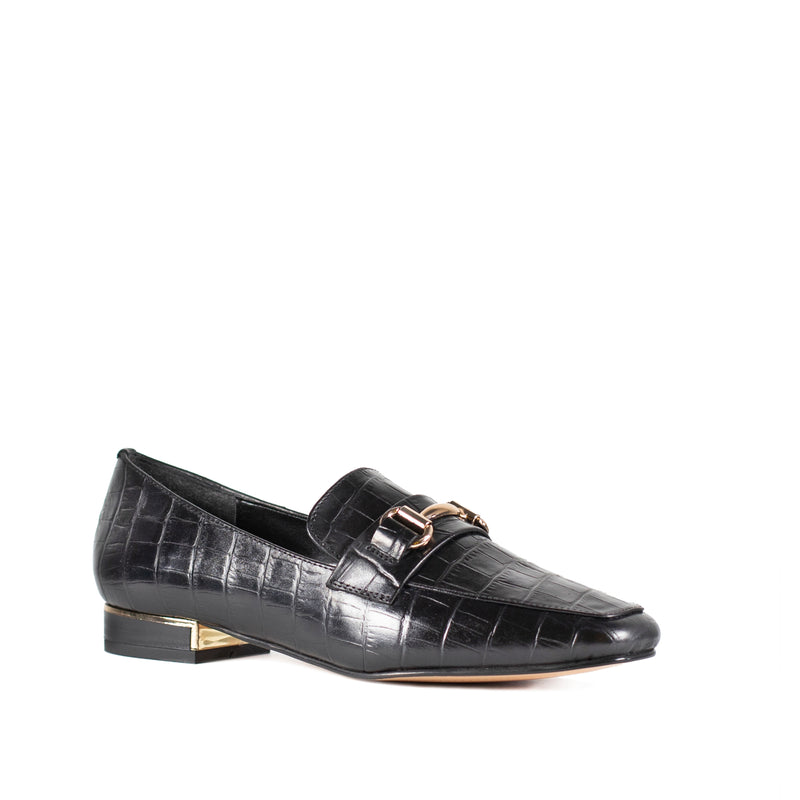 BLACK DAYANA LOAFERS