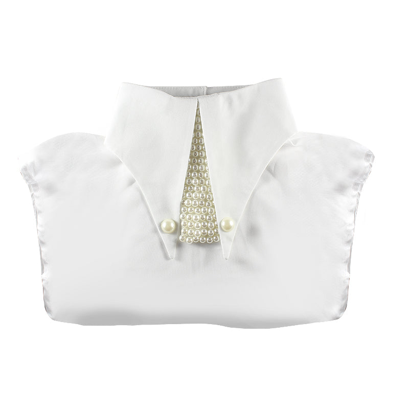 Pointed Embellished Pearl Collar