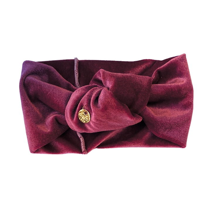 Velvet Turban Mini Raspberry