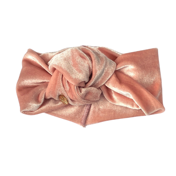 Velvet Turban Mini Rose