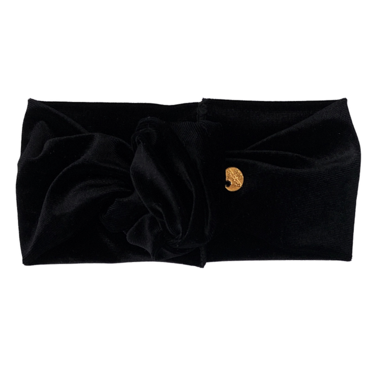 Velvet Turban Mini Black