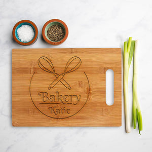 Personalised bamboo Square chopping  Perfect for Baking
