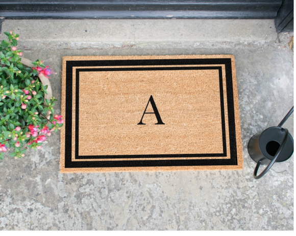 Custom Letter Doormats Mats Brown Entrance Mats Door Mats, Hall Mats,