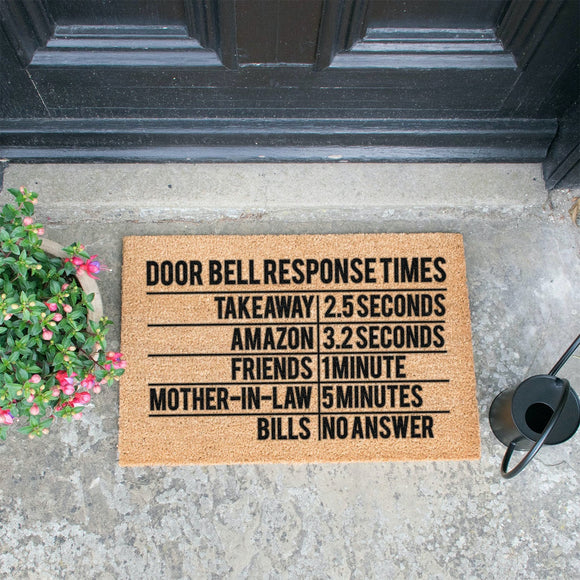 DOORBELL Response times...Doormats Mats Brown Entrance Mats Door Mats, Hall Mats,