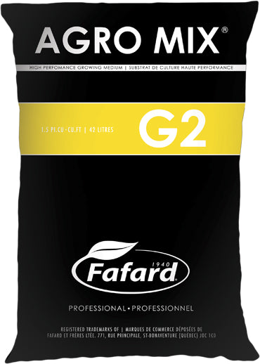 G2 - AGRO  MIX - 42L BAG - BLACK AND YELLOW COLOURED BAG - LARGE - Springbank Greenhouses