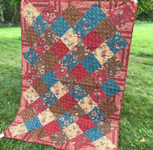 LAP QUILT - square on point Moda
