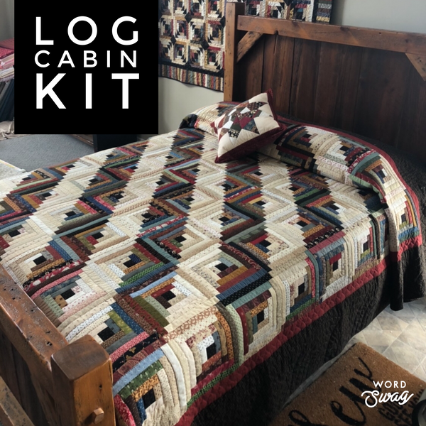 CIVIL WAR LOG CABIN KIT#1 - bed size quilt kit