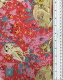 LAND ART (MINI ENCHANTED FOREST-025-ROSE) - fabric price per 1/4 meter