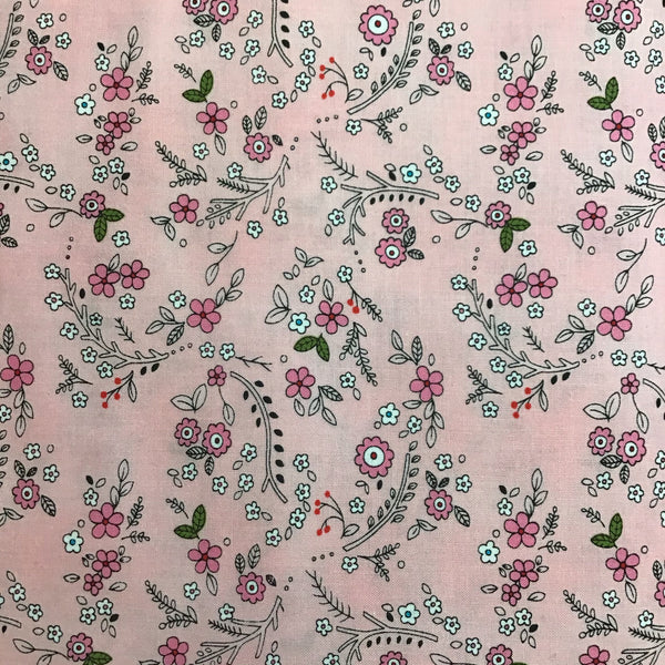 FOREST FLOWERS (DH8576-GERA-D) - fabric price per 1/4 meter