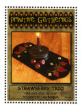 STRAWBERRY TRIO - wool table mat pattern