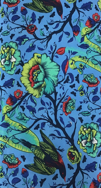 ALL STARS (TAIL FEATHERS-116-LUPINE) - fabric price per 1/4 meter
