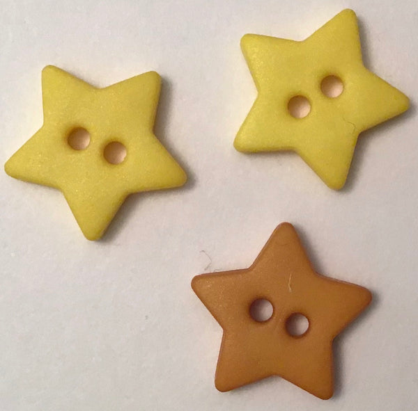 STAR BUTTON (15MM) - Dil buttons