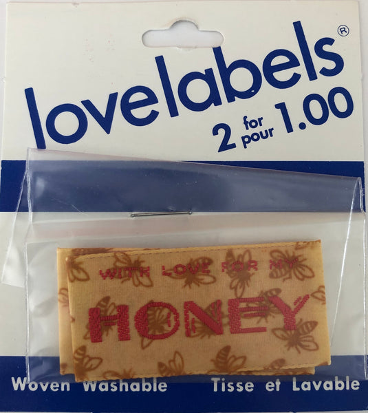 HAKID MADE BY LABELS - with love honey (2 in pack)