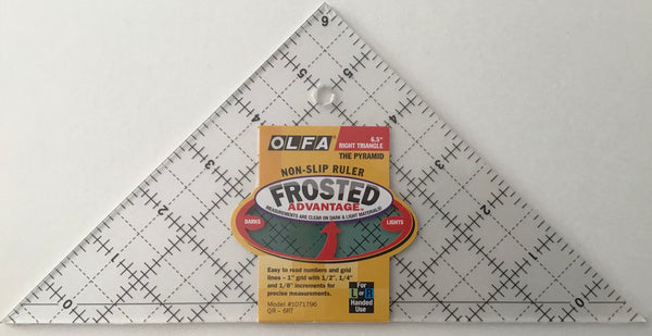 "OLFA RIGHT TRIANGLE 6.5"" - ruler"