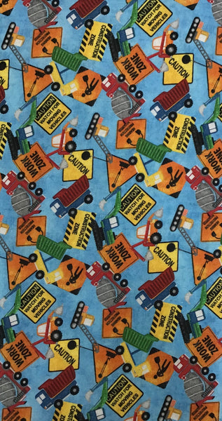 CONSTRUCTION ZONE (VEHICLES/SIGNS-23262-44) - fabric price per 1/4 meter