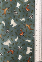 FOLK ART FLANNELS II (F2374-76) - fabric price per 1/4 meter