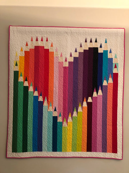 COLOUR OUTSIDE THE LINES - kid size quilt kit