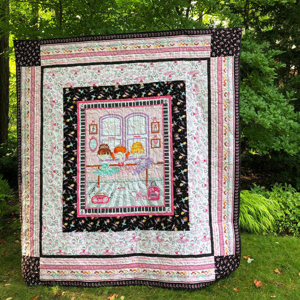BALLERINA PANEL - kid size double bed quilt kit
