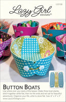 BUTTON BOATS - fabric bowl pattern