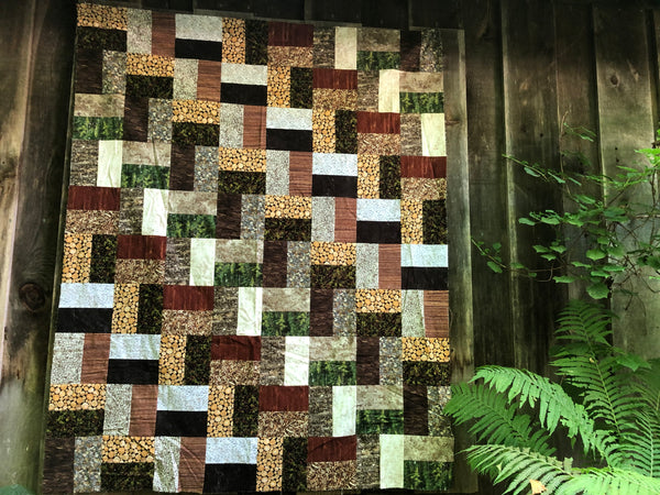 GREAT OUTDOORS FLANNEL - lap quilt kit