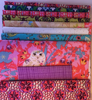 LAND ART PINK - lap quilt kit