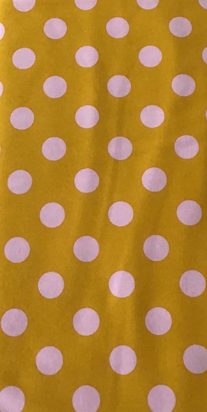 ALL STARS (POM POMS-118-MARIGOLD) - fabric price per 1/4 meter