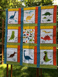 DINO ROAR - kid size quilt kit