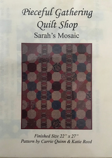PIECEFUL GATHERING - mini quilt pattern