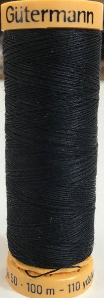 GUTERMANN 100m - 1001 -100% Mercerized Cotton  (black)