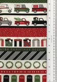 CHRISTMAS DELIVERY (C7337-BLACK) - fabric price per 1/4 meter