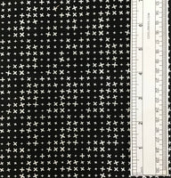 EXES (BLACK) - fabric price per 1/4 meter