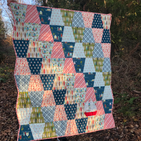 KIDS QUILT - boat theme