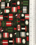 CHRISTMAS DELIVERY (C7331-GREEN) - fabric price per 1/4 meter