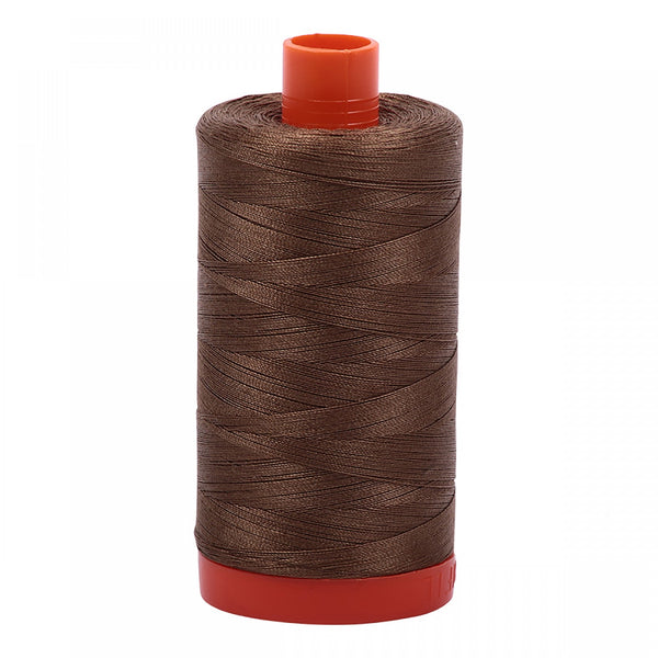 AURIFIL COTTON MAKO THREAD - 50wt- (1318 DARK SANDSTONE) 1300 MT
