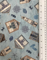 BEACH HOUSE (Y2631-87) - fabric price per 1/4 meter